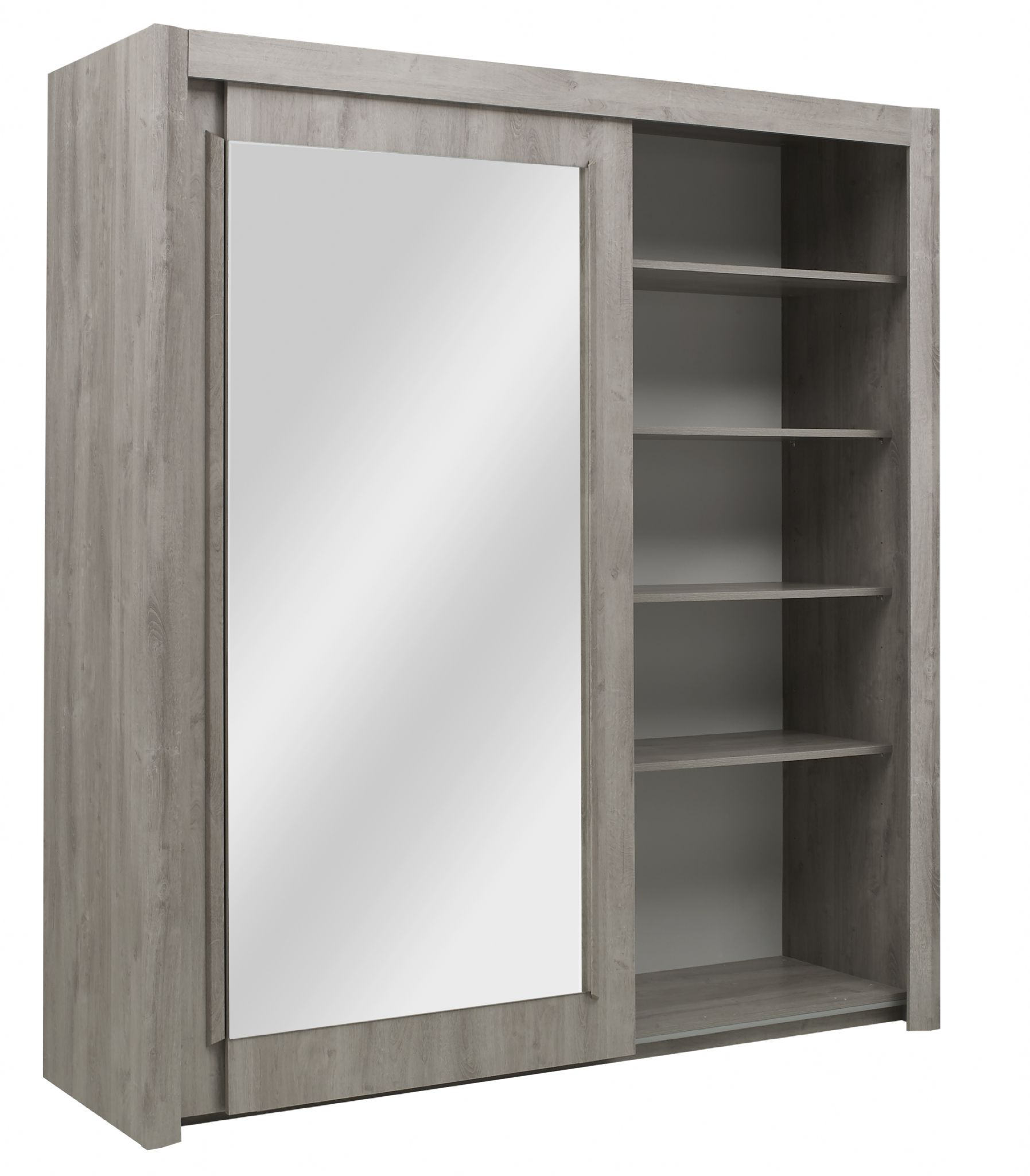 Eden Two Sliding Door Wardrobe Bleached Oak